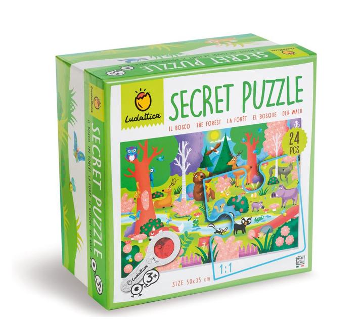 Puzle secreto 24 piezas EL BOSQUE