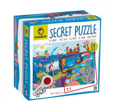Puzle secreto 24 piezas EL MAR