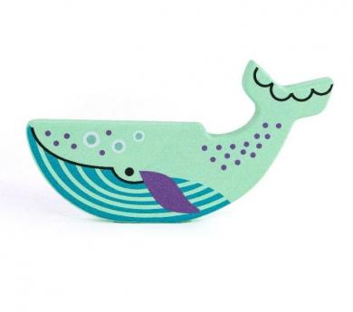 Balena blava de fusta
