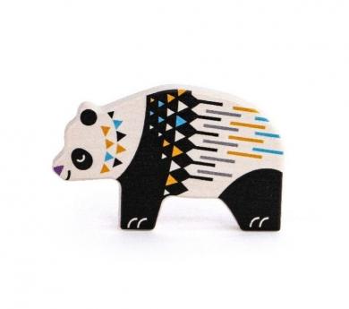 Oso panda de madera
