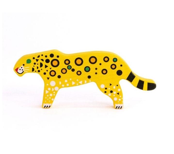 Leopardo de madera