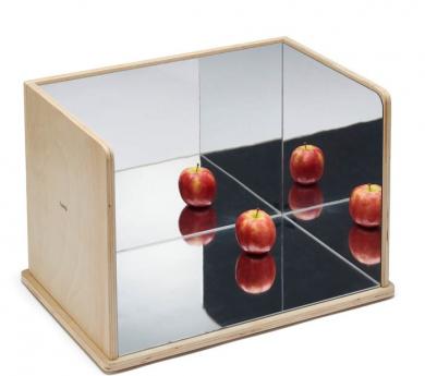 espejo de seguridad de experimentación con reflejos