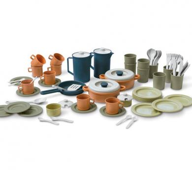 Conjunto de 79 piezas BIO de  vasos platos y cubiertos