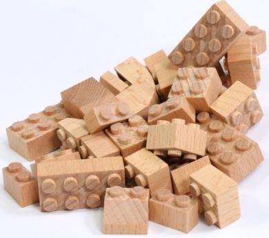 FabBrix Master Box 70 blocs compatibles de fusta