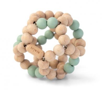 Bola flexible de perlas de madera para bebé