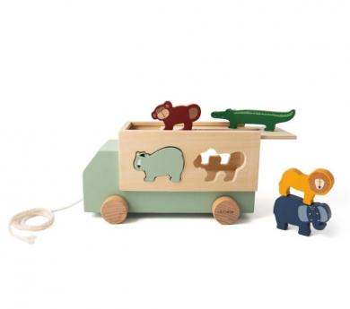 Camió de fusta amb animals per encaixar