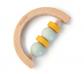 Sonall ergonòmic de fusta mig cercle amb anelles
