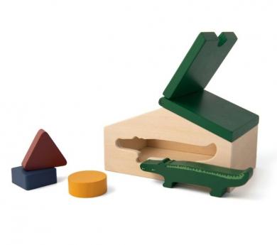 Caseta per encaixar amb animal i blocs geomètrics