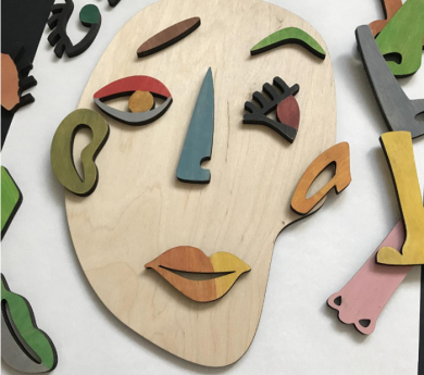 Juego de rostros cubistas de Picasso