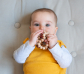 Bola de perles de fusta per nadons