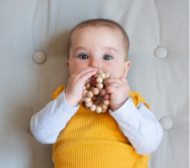 Bola de perlas de madera  para bebé