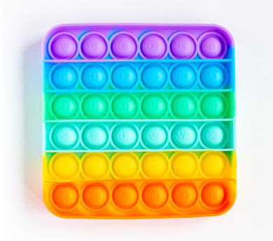 Joguina sensorial Push & Pop Bubbles quadrat