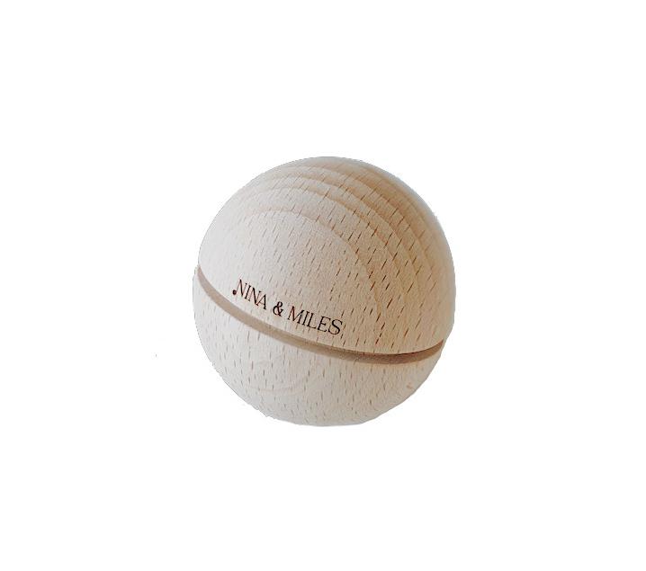 Esfera sonora de fusta