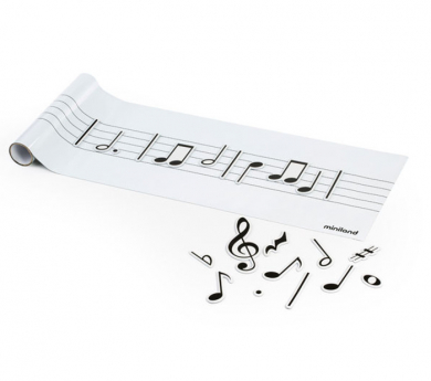 Pentagrama adhesiu removible i Notas musicales