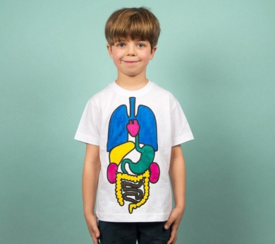 Kit per pintar una samarreta amb els órgans del cos