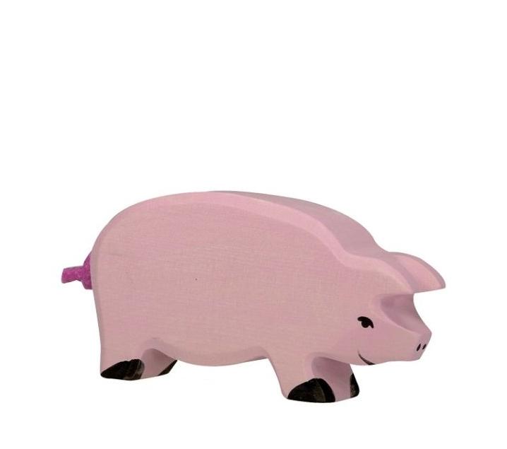 Figura de fusta Holztiger - Porc