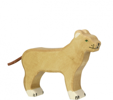 Figura de fusta Holztiger - Lleona