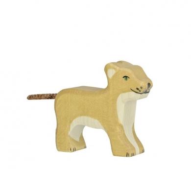 Figura de madera Holztiger - Cachorro de león