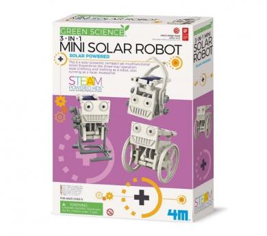 Mini robot solar 3 en 1 Green science Kidzlabs