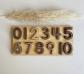 Números para encajar del 1 al 10 en base de madera
