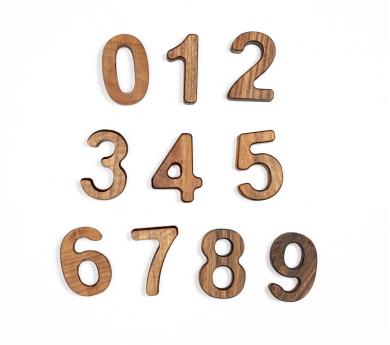 Números de fusta 0 al 9