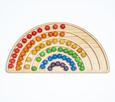 Tablero de trazo y clasificación arco iris Montessori