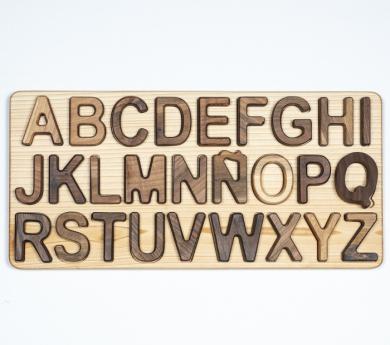 Puzle encajable letras mayúsuclas en castellano