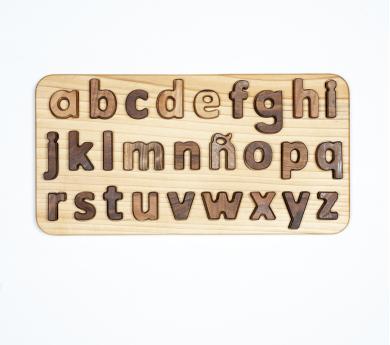 Puzle encajable  letras minúsculas en castellano