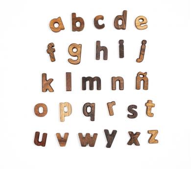 Puzle abecedari lletres minúsculas en castellà