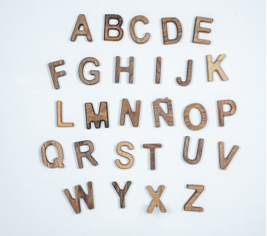 Alfabeto completo mayúsculas en castellano