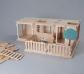 Joc de construcció amb planxes de fusta