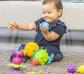 Juego de construcción con bolas sensoriales y cuentas