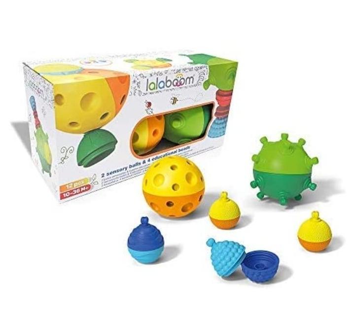 Joc de construcció amb boles sensorials i comptes