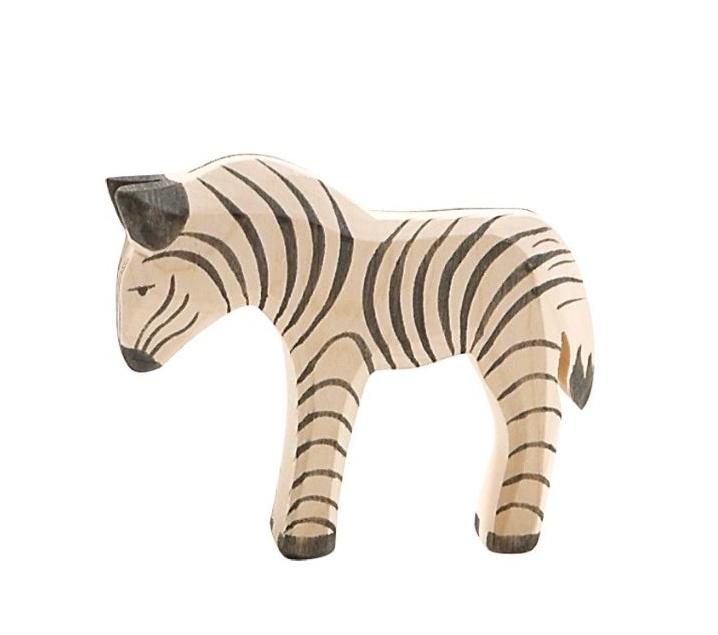 Figura de madera Ostheimer - Cría de cebra