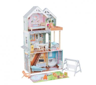 Gran casa para muñecas de hasta 18 cm