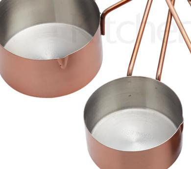 Cazos medidores en cobre