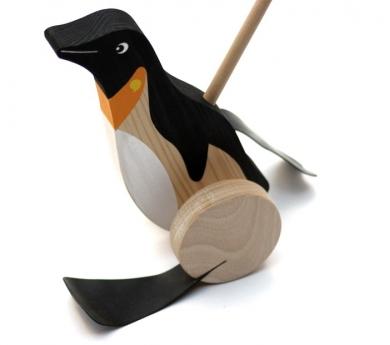 Pingüino de madera caminador