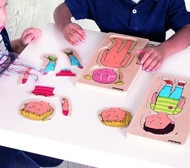 Puzle 5 en 1- Anatomía humana