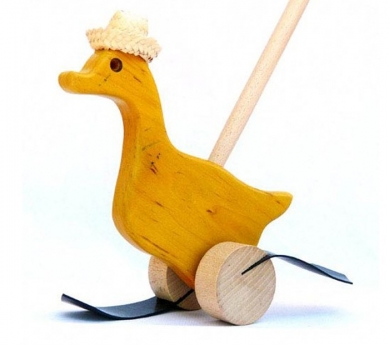Pato de madera caminador