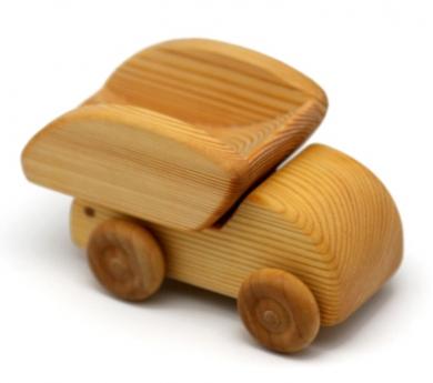 Camió de fusta petit amb bolcador