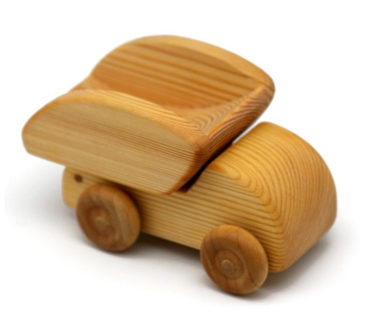 Camión de madera pequeño para volcar
