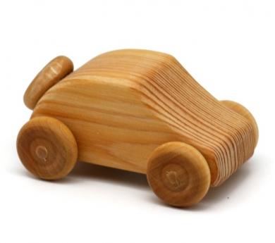 Cotxe petit amb roda de recanvi