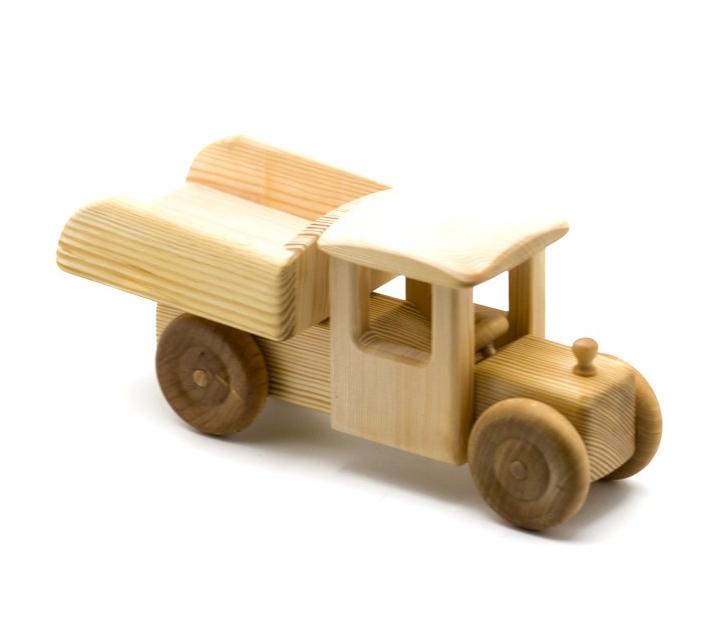 Camió de fusta gros