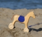 Arrastre caballo de madera