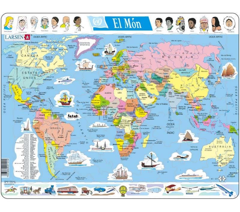 Mapa Fisic Del Mon.Mapa Del Mon Diviso Politica