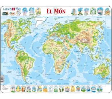 Mapa puzle del món – Físic