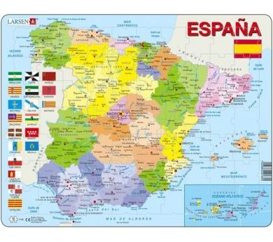 Mapa Puzzzle de España– Político