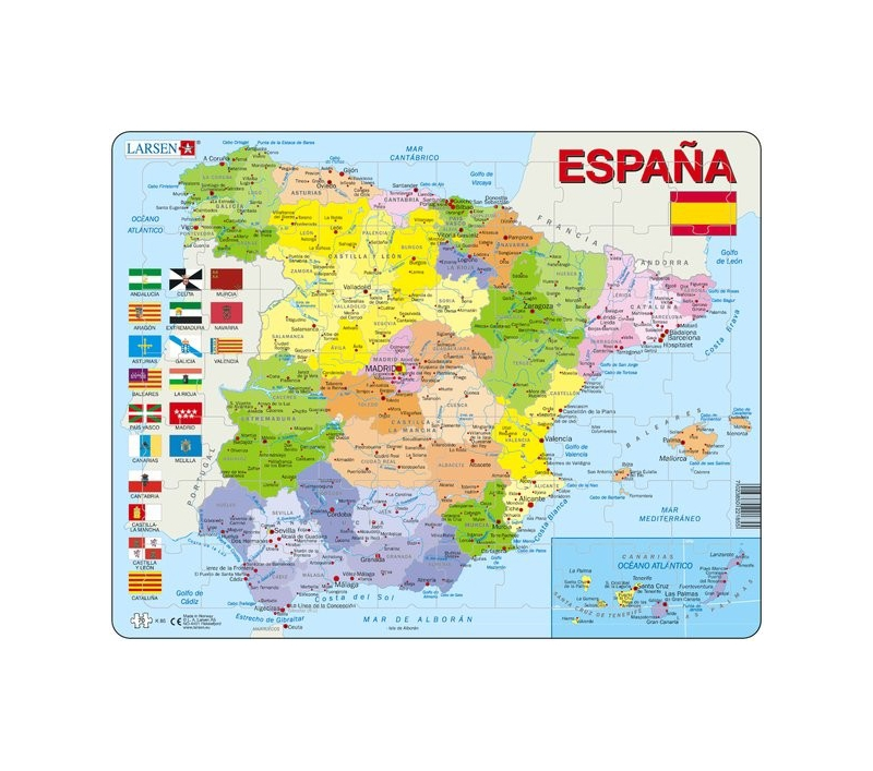 Mapa De Espa 241 A Divisi 243 N Pol 237 Tica