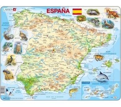 Mapa Puzle d'Espanya– Físic