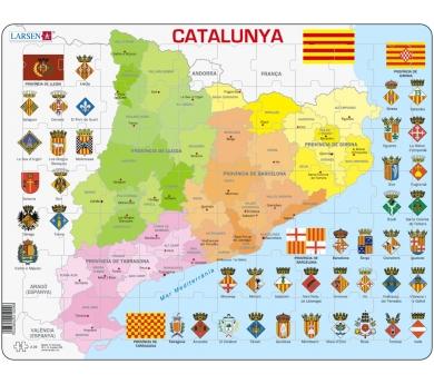 Mapa Puzzle de Cataluña– División Política
